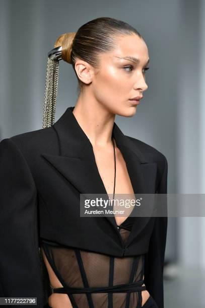 Bella Hadid walks the runway during the Mugler Womenswear Spring/Summer 2020 show as part of Paris Fashion Week on September 25, 2019 in Paris,...