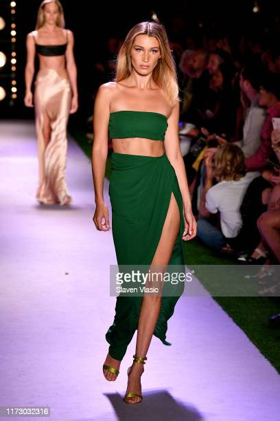 Bella Hadid walks the runway for Brandon Maxwell during New York Fashion Week The Shows on September 07 2019 in New York City