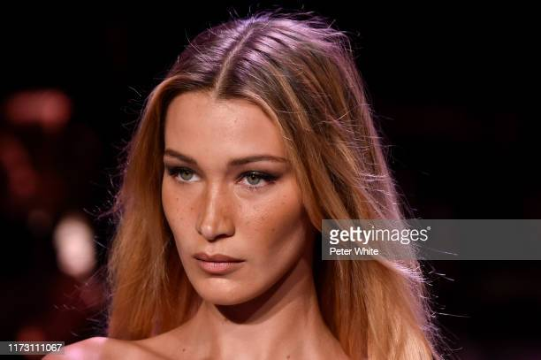 Bella Hadid walks the runway for Brandon Maxwell during New York Fashion Week: The Shows on September 07, 2019 in New York City.