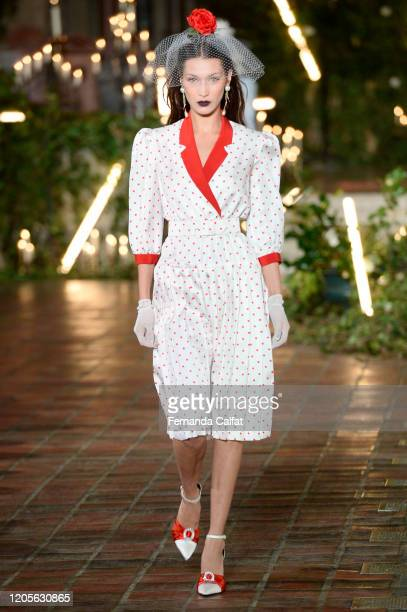Bella Hadid walks the runway for Rodarte during New York Fashion Week The Shows at St Bart's Church on February 11 2020 in New York City
