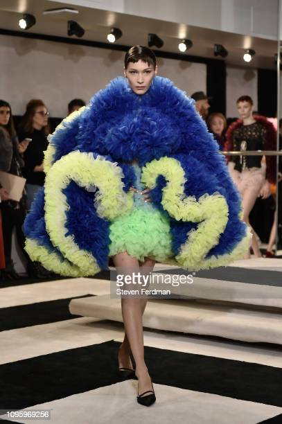 Bella Hadid walks the runway for the Tomo Koizumi fashion show during New York Fashion Week at Marc Jacobs Madison on February 8 2019 in New York City