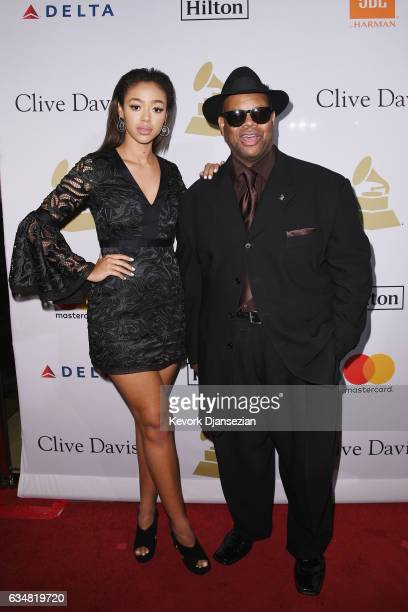 Bella Harris and producer Jimmy Jam attend PreGRAMMY Gala and Salute to Industry Icons Honoring Debra Lee at The Beverly Hilton on February 11 2017...