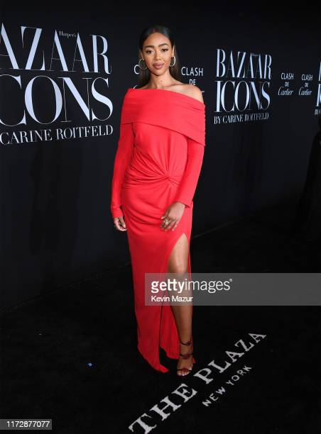 Bella Harris attends as Harper's BAZAAR celebrates ICONS By Carine Roitfeld at The Plaza Hotel presented by Cartier Arrivals on September 06 2019 in...