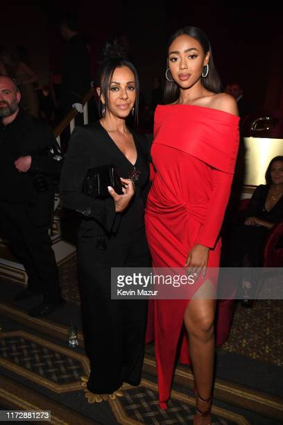 Bella Harris attends as Harper's BAZAAR celebrates ICONS By Carine Roitfeld at The Plaza Hotel presented by Cartier Inside on September 06 2019 in...