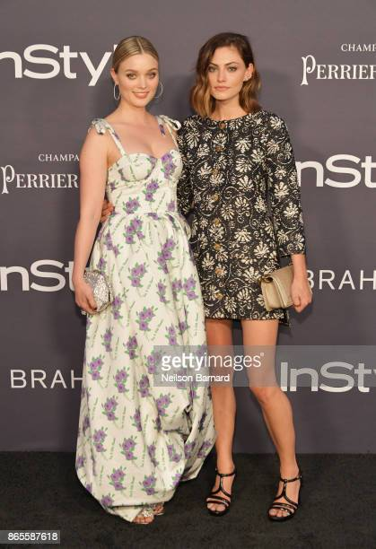 Bella Heathcote and Phoebe Tonkin attend 3rd Annual InStyle Awards at The Getty Center on October 23 2017 in Los Angeles California