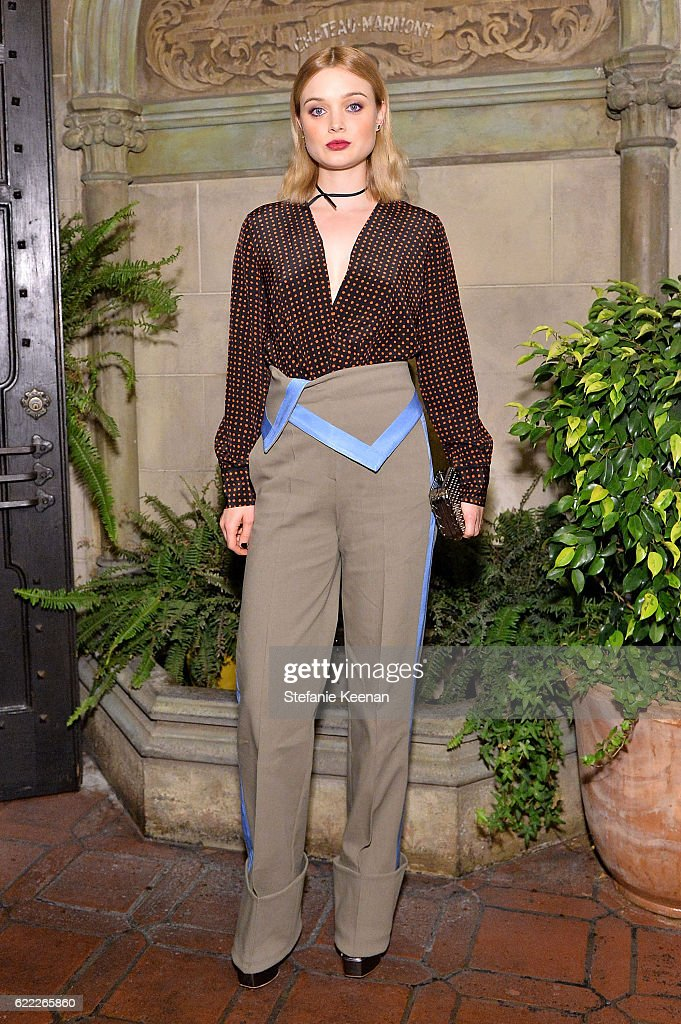 Bella Heathcote attends Lisa Love Hosts Dinner For Jonathan Saunders, New Chief Creative Officer Of Diane Von Furstenberg at Chateau Marmont on November 10, 2016 in Los Angeles, California.