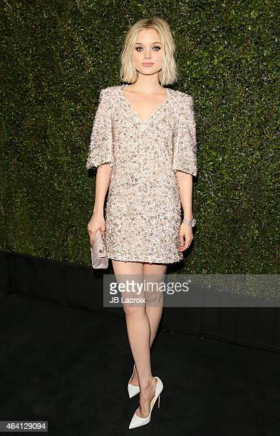 Bella Heathcote attends the Chanel And Charles Finch PreOscar Dinner at Madeo Restaurant on February 21 2015 in West Hollywood California