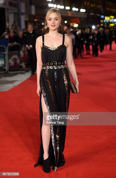Bella Heathcote attends the European premiere of 'Pride And Prejudice And Zombies' at the Vue West End on February 1 2016 in London England