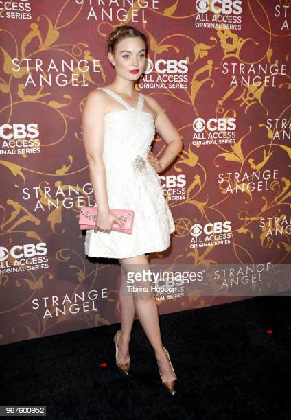 Bella Heathcote attends the premiere of 'Strange Angel' at Avalon on June 4 2018 in Hollywood California