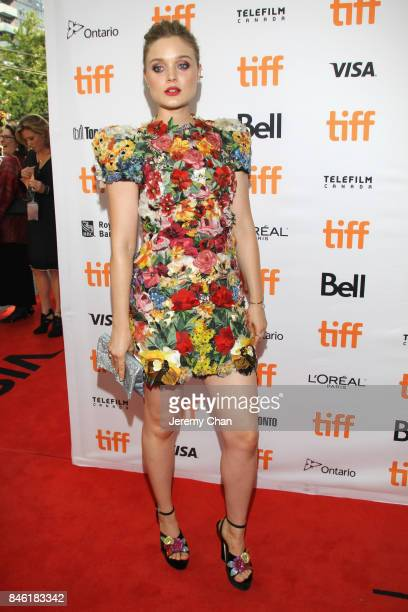 Bella Heathcote attends the Professor Marston The Wonder Women premiere during the 2017 Toronto International Film Festival at Princess of Wales...