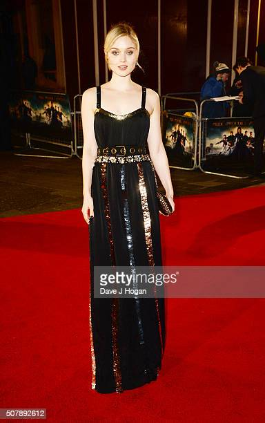 Bella Heathcote attends the red carpet for the European premiere for 'Pride And Prejudice And Zombies' on at Vue West End on February 1 2016 in...