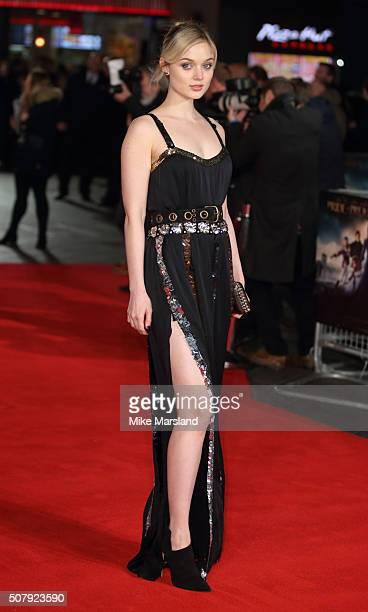 Bella Heathcote attends the red carpet for the European premiere for Pride And Prejudice And Zombies on at Vue West End on February 1 2016 in London...