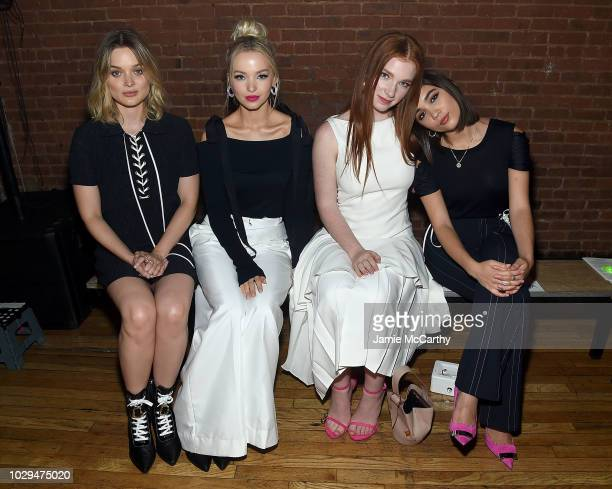 Bella Heathcote Dove Cameron Annalise Basso and Rowan Blanchard attend the Adeam fashion show front row during New York Fashion Week on September 8...