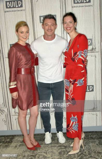 Bella Heathcote Luke Evans and Rebecca Hall attend Build series to discuss 'Professor Marston And The Wonder Women' at Build Studio on October 9 2017...
