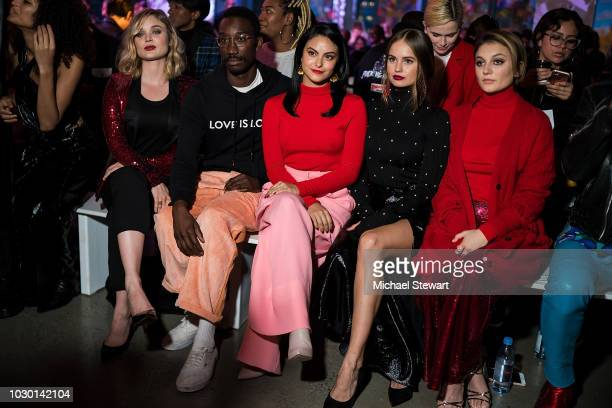 Bella Heathcote Nathan Stewart Jarrett Camila Mendes Debby Ryan and Daya attends the Prabal Gurung fashion show during New York Fashion Week The...
