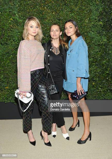 Bella Heathcote Teresa Palmer and Phoebe Tonkin attend Caroline De Maigret and Pharrell Williams dinner in celebration of CHANEL's Gabrielle Bag at...