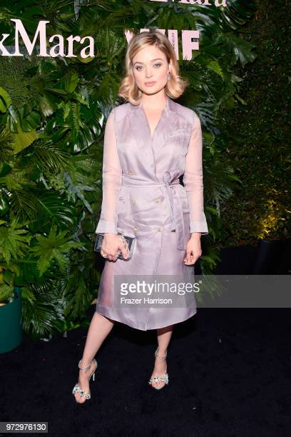 Bella Heathcote wearing Max Mara attends the Max Mara Celebration for Alexandra Shipp 2018 Women In Film Max Mara Face Of The Future Award Recipient...