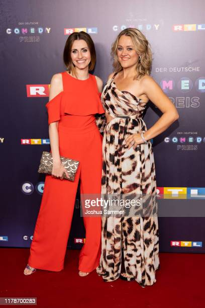 Bella Lesnik and Lisa Feller attend the 23rd annual German Comedy Awards at Studio in Köln Mühlheim on October 02 2019 in Cologne Germany