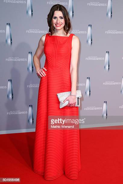 Bella Lesnik attends the German Television Award at Rheinterrasse on January 13 2016 in Duesseldorf Germany