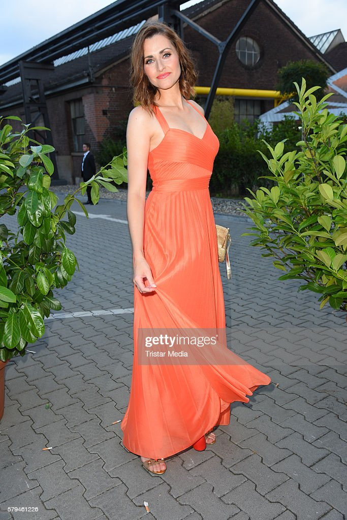 Bella Lesnik attends the Unique show during Platform Fashion July 2016 at Areal Boehler on July 23, 2016 in Duesseldorf, Germany.