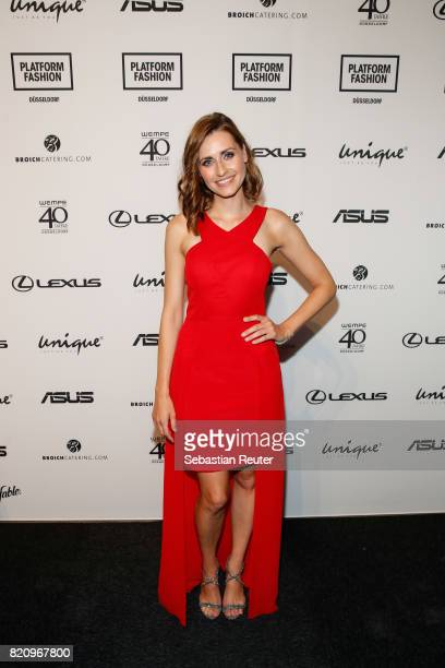 Bella Lesnik attends the Unique show during Platform Fashion July 2017 at Areal Boehler on July 22 2017 in Duesseldorf Germany