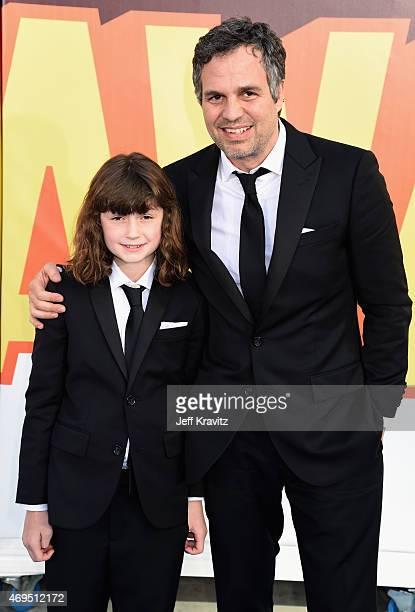 Bella Noche Ruffalo and actor Mark Ruffalo attend The 2015 MTV Movie Awards at Nokia Theatre LA Live on April 12 2015 in Los Angeles California
