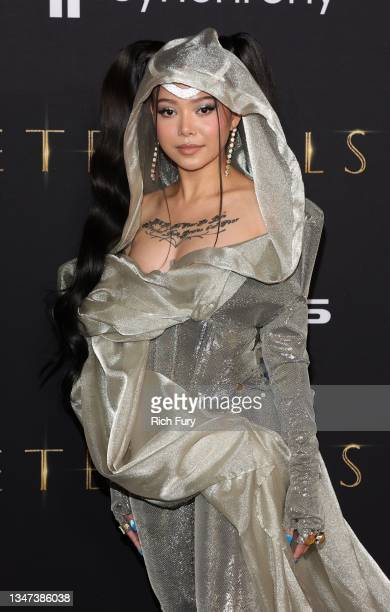"Bella Poarch attends Marvel Studios' ""Eternals"" premiere on October 18, 2021 in Los Angeles, California."