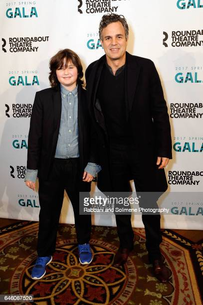 Bella Ruffalo and Mark Ruffalo attends the Roundabout Theatre Company's 2017 Spring Gala at The Waldorf=Astoria on February 27 2017 in New York City