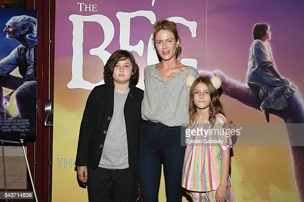 Bella Ruffalo Sunrise Ruffalo and Odette Ruffalo attend a screening of The BFG hosted by Disney and The Cinema Society at Village East Cinema on June...