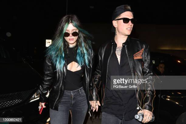 Bella Thorne and Benjamin Mascolo are seen on February 14, 2020 in Los Angeles, California.