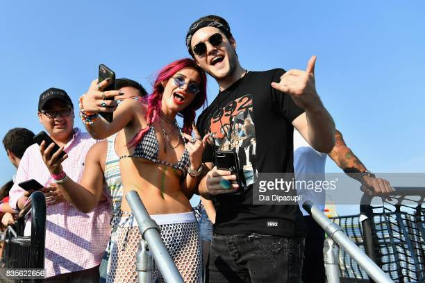 Bella Thorne and Charlie DePew attend Day One of 2017 Billboard Hot 100 Festival at Northwell Health at Jones Beach Theater on August 19 2017 in...