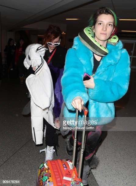 Bella Thorne and Dani Thorne are seen at LAX on January 23 2018 in Los Angeles California
