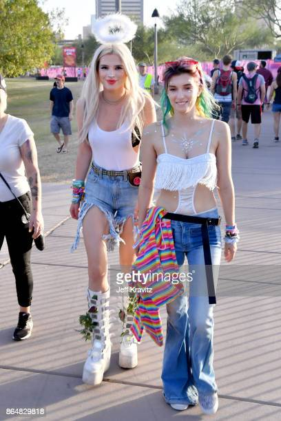 Bella Thorne and Dani Thorne are seen during day 2 of the 2017 Lost Lake Festival on October 21 2017 in Phoenix Arizona