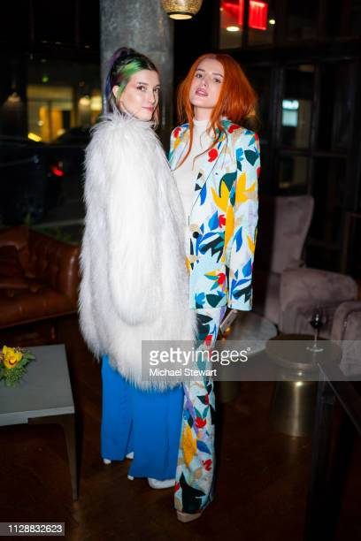 Bella Thorne and Dani Thorne attend the Prabal Gurung after party dinner at Baar Baar on February 10 2019 in New York City
