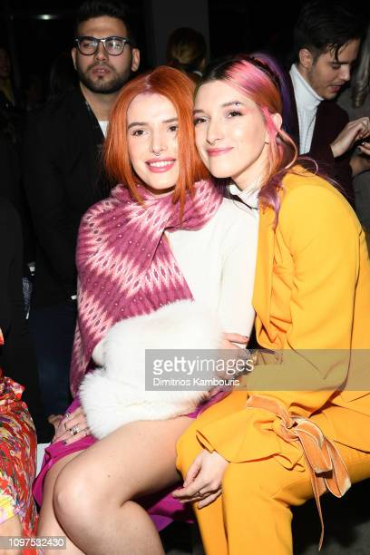 Bella Thorne and Dani Thorne attend the Prabal Gurung front row during New York Fashion Week The Shows at Gallery I at Spring Studios on February 10...
