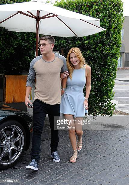 Bella Thorne and her new boyfriend Gregg Sulkin are seen on July 21 2015 in Los Angeles California