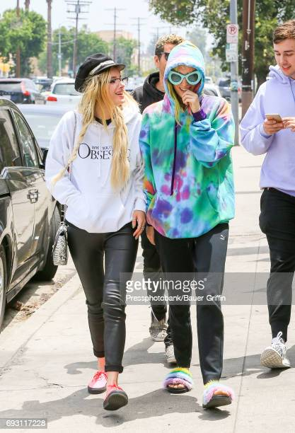 Bella Thorne and her sister Dani Thorne are seen on June 06 2017 in Los Angeles California