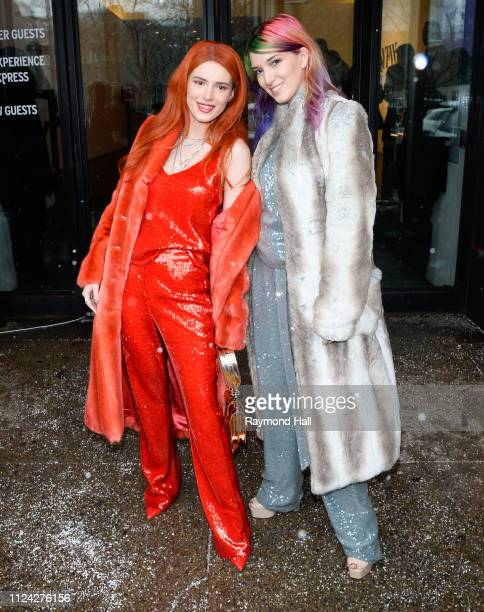 Bella Thorne and Kaili Thorne are seen outside a fashion show on February 12 2019 in New York City