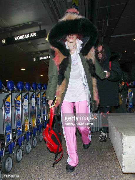Bella Thorne and Mod Sun are seen at Los Angeles International Airport on March 01 2018 in Los Angeles California