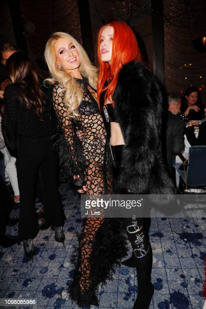 Bella Thorne and Paris Hilton attend Philipp Plein show on February 11 2019 in New York City