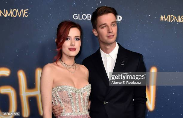 Bella Thorne and Patrick Schwarzenegger attend Global Road Entertainment's world premiere of 'Midnight Sun' at ArcLight Hollywood on March 15 2018 in...