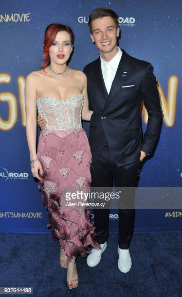 Bella Thorne and Patrick Schwarzenegger attend the Global Road Entertainment's World Premiere of 'Midnight Sun' at ArcLight Hollywood on March 15...