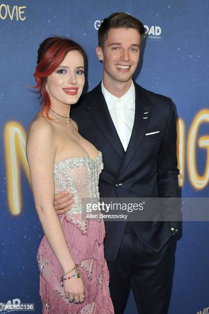 Bella Thorne and Patrick Schwarzenegger attend the Global Road Entertainment's World Premiere of Midnight Sun at ArcLight Hollywood on March 15 2018...