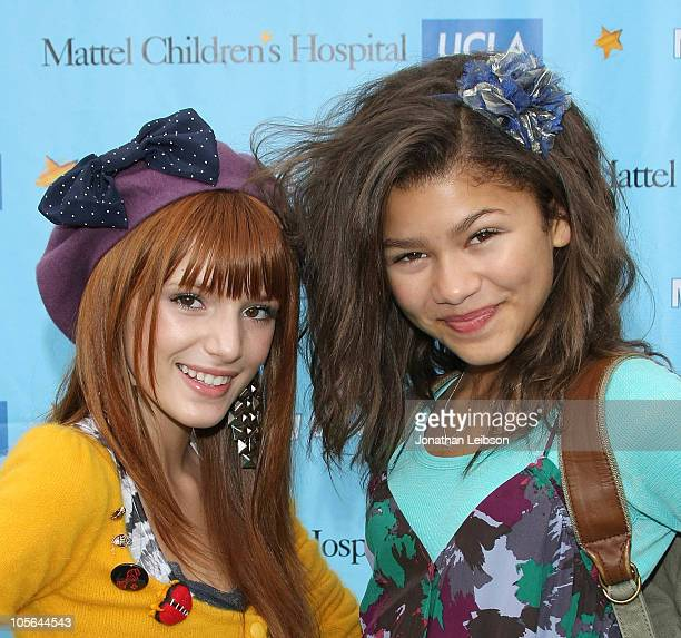 Bella Thorne and Zendaya Coleman arrive for the 11th Annual Mattel Party On The Pier at Santa Monica Pier on October 17 2010 in Santa Monica...