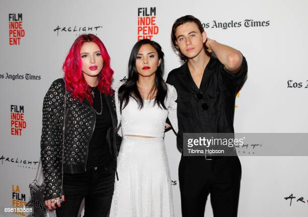 Bella Thorne Anna Akana and Nash Grier attend the screening of 'You Get Me' during the 2017 Los Angeles Film Festival at ArcLight Santa Monica on...