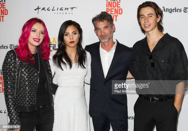 Bella Thorne Anna Akana Brent Bonacorso and Nash Grier attend the premiere of Netflix's 'You Get Me' at the 2017 Los Angeles Film Festival at the...