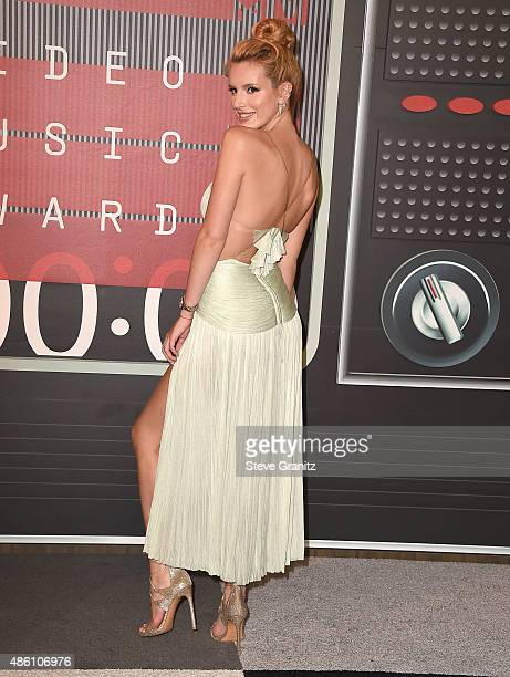 Bella Thorne arrives at the 2015 MTV Video Music Awards at Microsoft Theater on August 30 2015 in Los Angeles California
