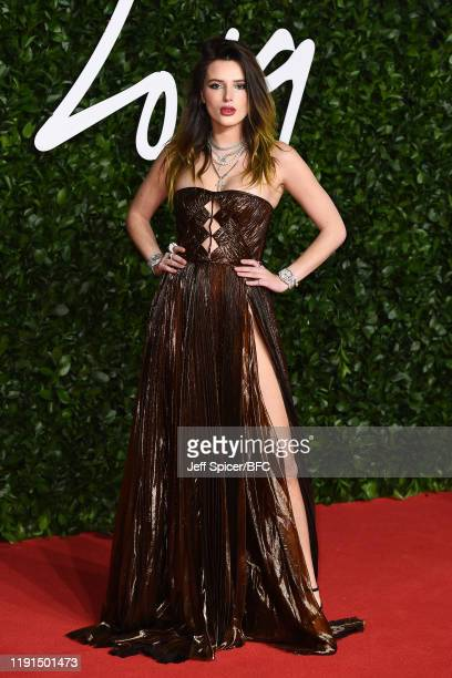 Bella Thorne arrives at The Fashion Awards 2019 held at Royal Albert Hall on December 02, 2019 in London, England.