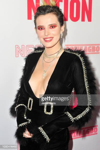 Bella Thorne arrives at the Premiere of Neon and Refinery29's 'Assassination Nation' at ArcLight Hollywood on September 12, 2018 in Hollywood,...