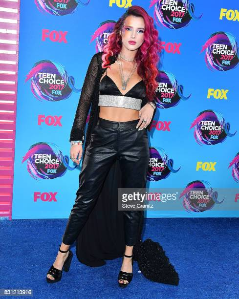 Bella Thorne arrives at the Teen Choice Awards 2017 at Galen Center on August 13 2017 in Los Angeles California